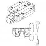 Prowadnice liniowe rolkowe z łańcuchem PMI, seria SMR, typ SMR-E / SMR-LE